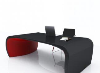 Scrivania Sonar nero-rosso