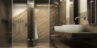 Clean modern master bath