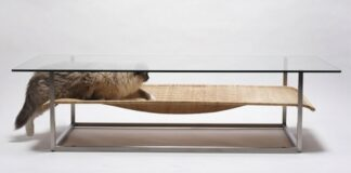 cat hammock table