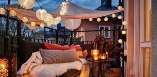 balcone in autunno