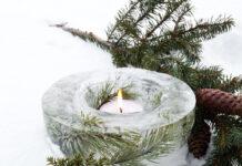 decorazioni invernali abete
